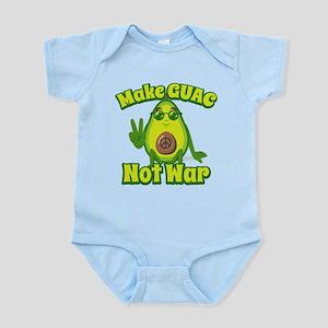 Emoji Make Guac Not War Baby Light Bodysuit
