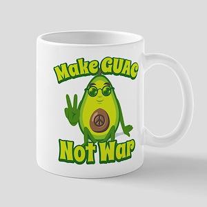 Emoji Make Guac Not War 11 oz Ceramic Mug