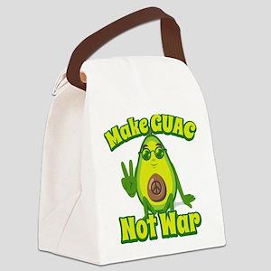 Emoji Make Guac Not War Canvas Lunch Bag