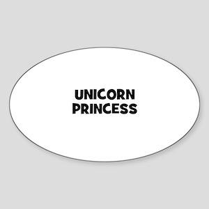 unicorn princess Oval Sticker