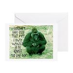 GREEN IRISH GORILLA Greeting Card