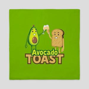 Emoji Avocado Toast Queen Duvet