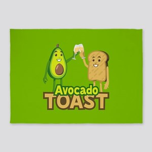 Emoji Avocado Toast 5'x7'Area Rug