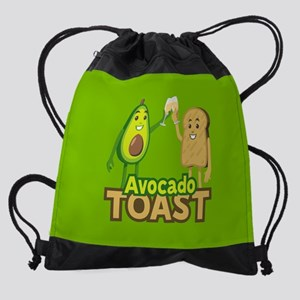 Emoji Avocado Toast Drawstring Bag