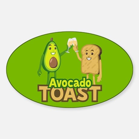 Emoji Avocado Toast Vinyl Sticker