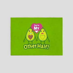 Emoji Avocado Other Half 5'x7'Area Rug
