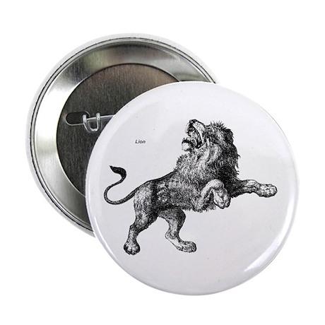 Lion Wild Animal Button