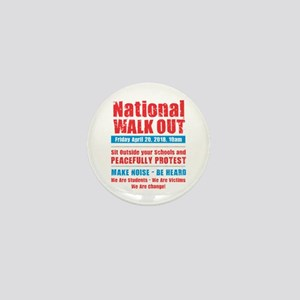 National Walk Out Mini Button