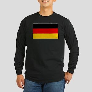 German Flag Long Sleeve Dark T-Shirt