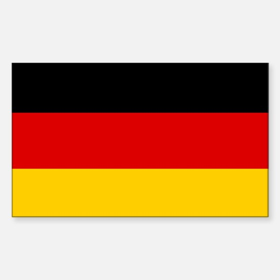 German Flag Rectangle Decal