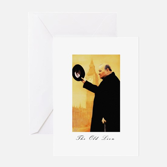 Churchill - The Old Lion Greeting Card