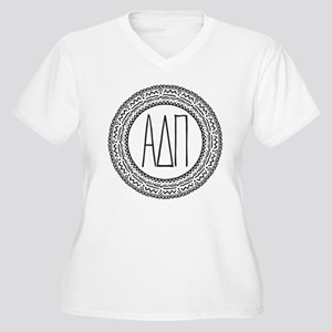 Alpha Delta Pi Me Women's Plus Size V-Neck T-Shirt
