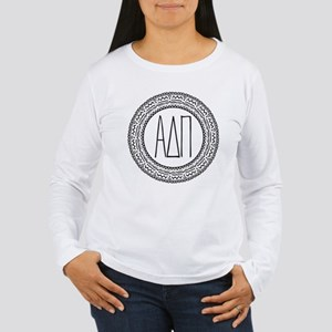 Alpha Delta Pi Medalli Women's Long Sleeve T-Shirt