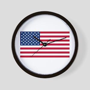 American Flag Wall Clock