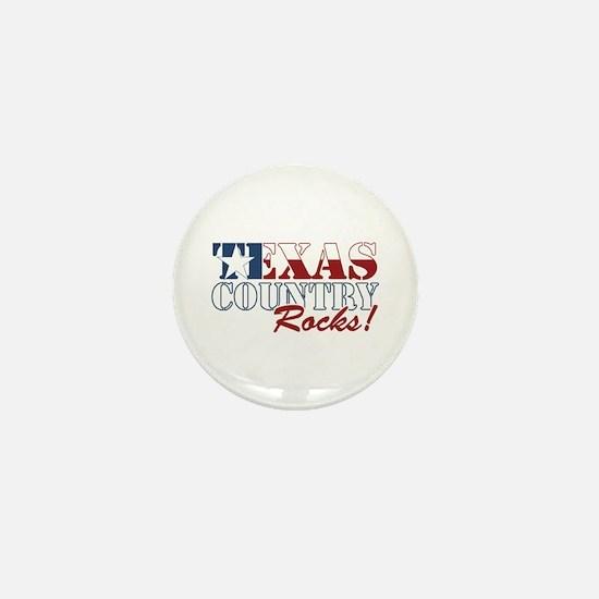 Texas Country Rocks Mini Button
