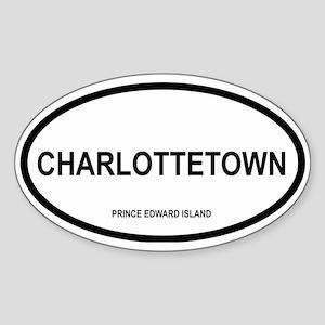 Charlottetown Oval Sticker