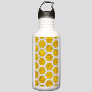 HEXAGON2 WHITE MARBLE Stainless Water Bottle 1.0L