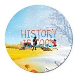 History is Cool Round Car Magnet