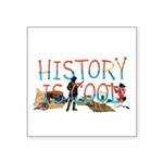 History is Cool Square Sticker 3