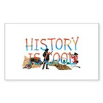 History is Cool Sticker (Rectangle 50 pk)