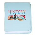 History is Cool baby blanket
