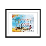 History is Cool Framed Panel Print