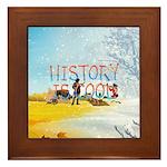 History is Cool Framed Tile