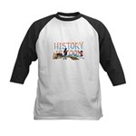 History is Cool Kids Baseball Tee
