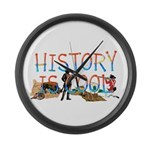 History is Cool Large Wall Clock