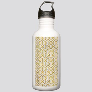 HEXAGON1 WHITE MARBLE Stainless Water Bottle 1.0L