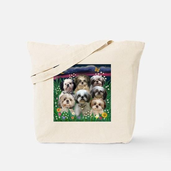 7 Shih Tzu Darlings Tote Bag