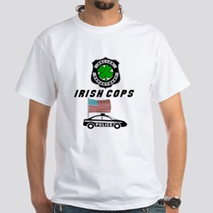 Irish Police Officers White T-Shirt