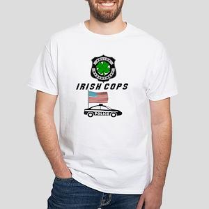 Irish Police Officers White T-Shirt