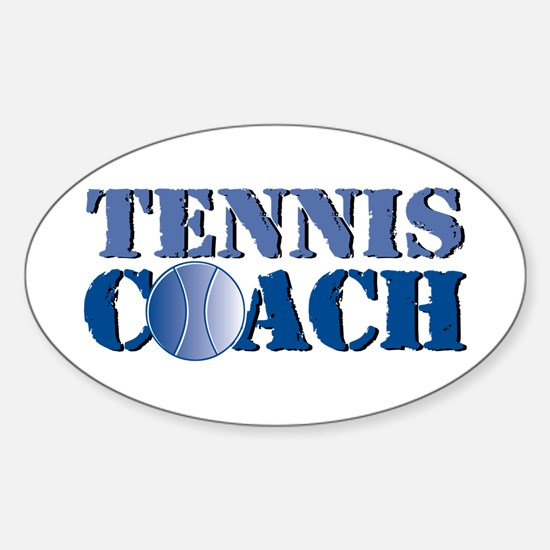 Tennis Coach Oval Decal