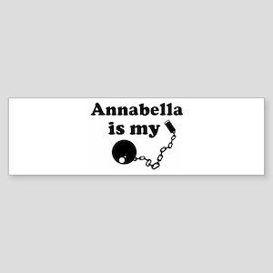 Annabella (ball and chain) Bumper Sticker