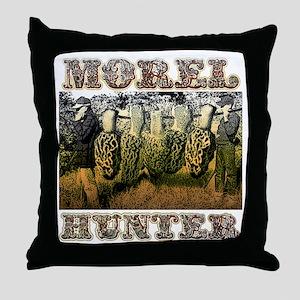Morel hunter gifts and t-shir Throw Pillow