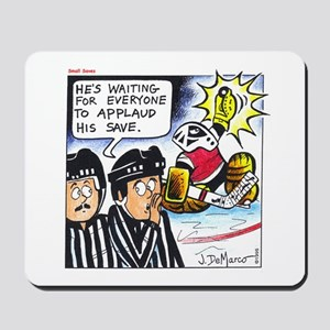 Hockey Goalie Showboat Save Items Mousepad