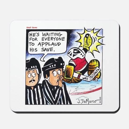Hockey Goalie Showboat Save Items Mousepad