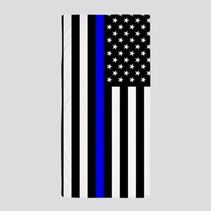 U.S. Flag: Thin Blue Line Beach Towel