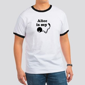 Alice (ball and chain) Ringer T