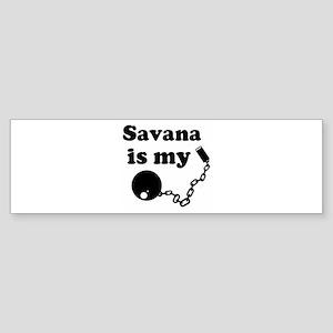 Savana (ball and chain) Bumper Sticker