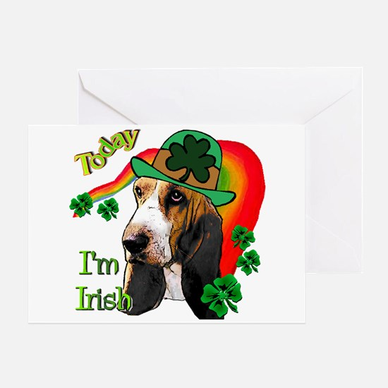 St. Pat's Basset Hound Greeting Card