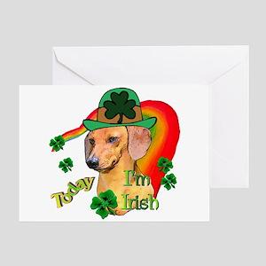 St Pattys Dachshund Greeting Card