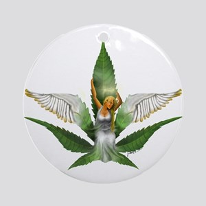 Sativa Goddess! Marijuana! Hemp! Keepsake (Round)