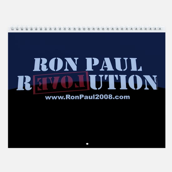 Revolution Blue Wall Calendar