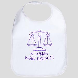 Attorney Work Cotton Baby Bib