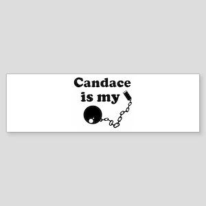 Candace (ball and chain) Bumper Sticker