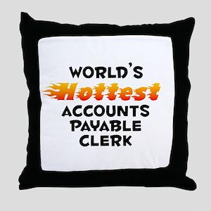 World's Hottest Accou.. (B) Throw Pillow