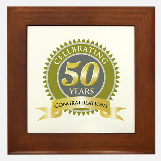 Celebrating 50 Years Framed Tile