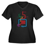 Gastrointestinal Subway Map Women's Plus Size V-Ne